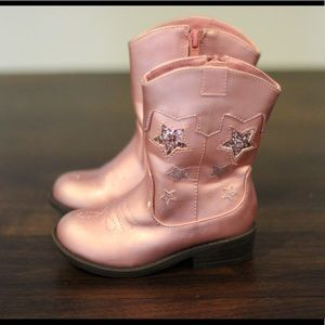 Pink Star Cowgirl Boots